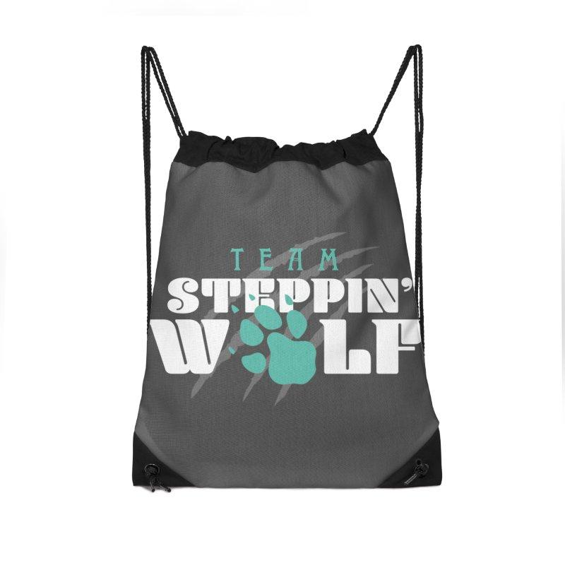 Steppin' Wolf Accessories Drawstring Bag Bag by Turkeylegsray's Artist Shop