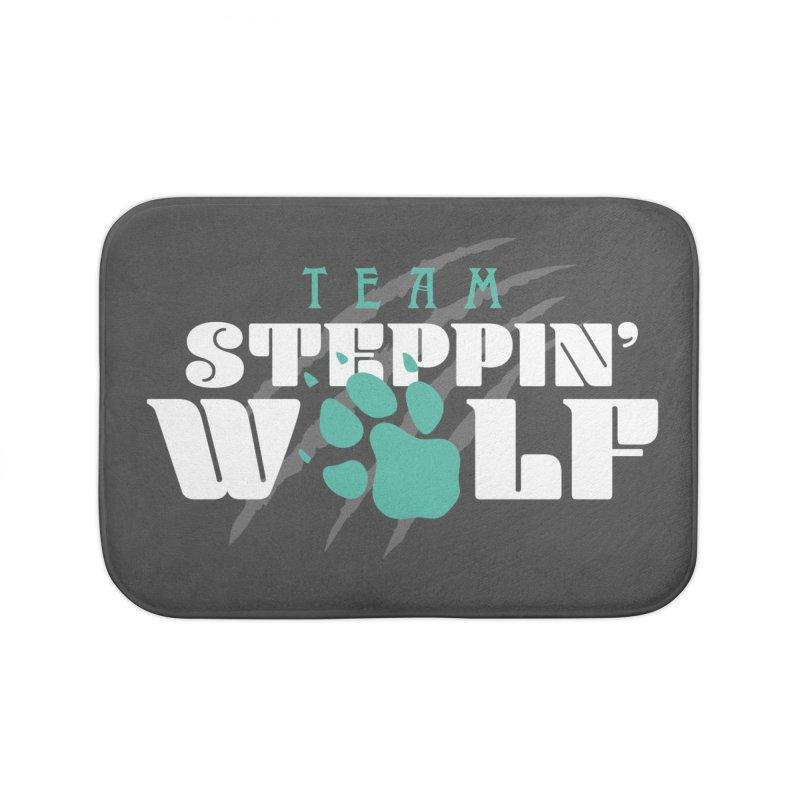 Steppin' Wolf Home Bath Mat by Turkeylegsray's Artist Shop