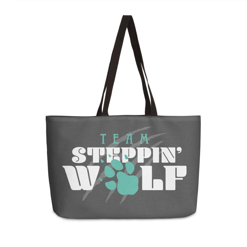 Steppin' Wolf Accessories Weekender Bag Bag by Turkeylegsray's Artist Shop