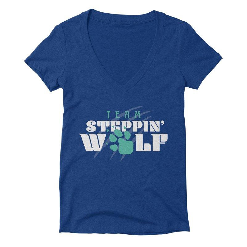 Steppin' Wolf Women's Deep V-Neck V-Neck by Turkeylegsray's Artist Shop