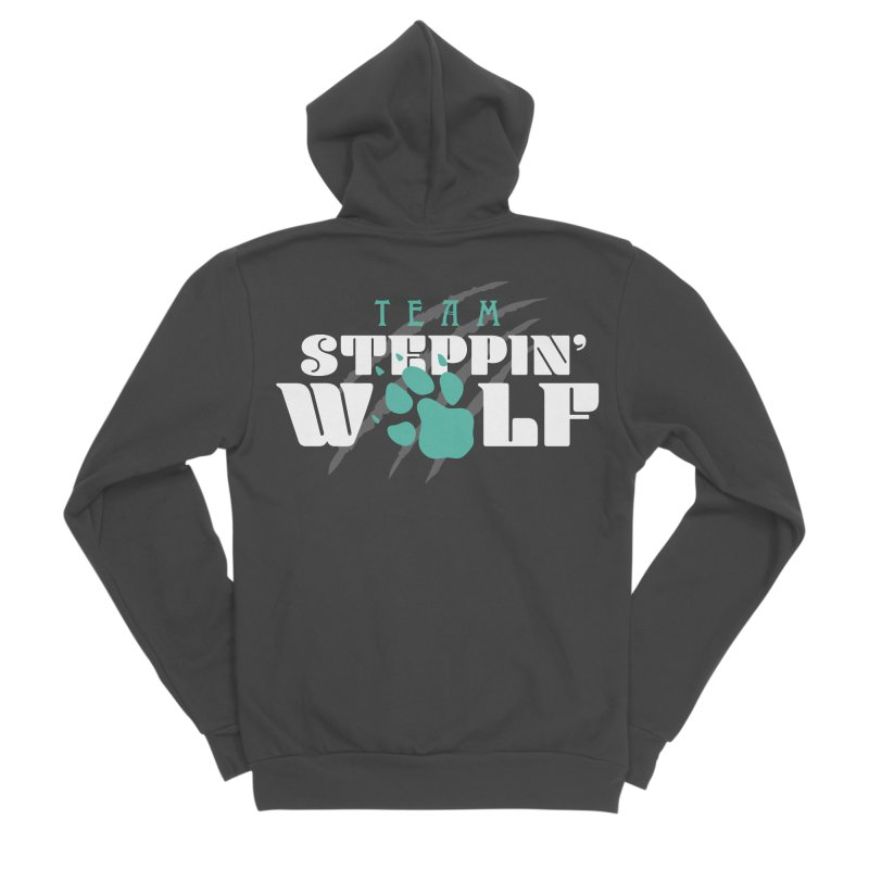 Steppin' Wolf Men's Sponge Fleece Zip-Up Hoody by Turkeylegsray's Artist Shop