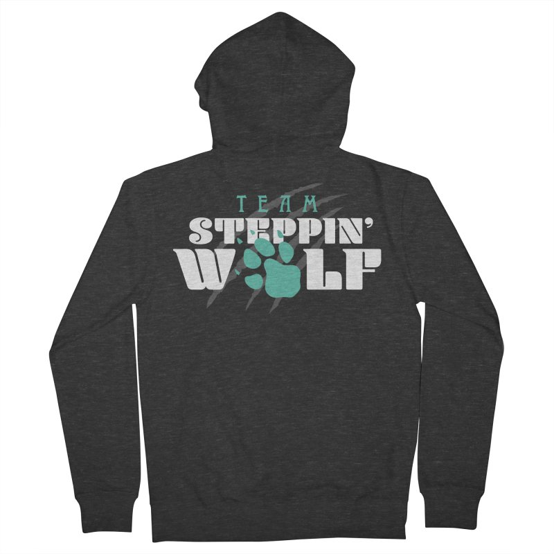 Steppin' Wolf Women's French Terry Zip-Up Hoody by Turkeylegsray's Artist Shop