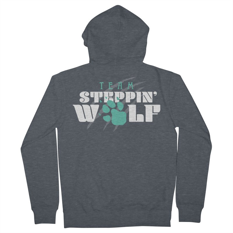 Steppin' Wolf Men's French Terry Zip-Up Hoody by Turkeylegsray's Artist Shop