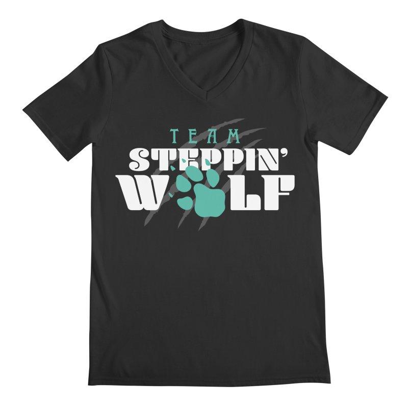Steppin' Wolf Men's Regular V-Neck by Turkeylegsray's Artist Shop