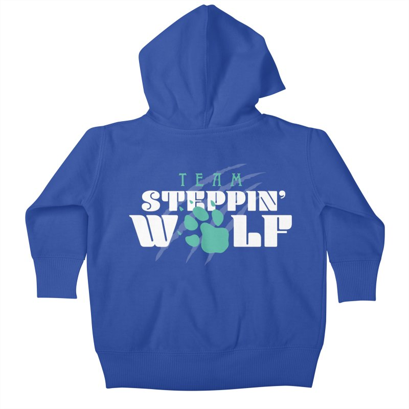 Steppin' Wolf Kids Baby Zip-Up Hoody by Turkeylegsray's Artist Shop