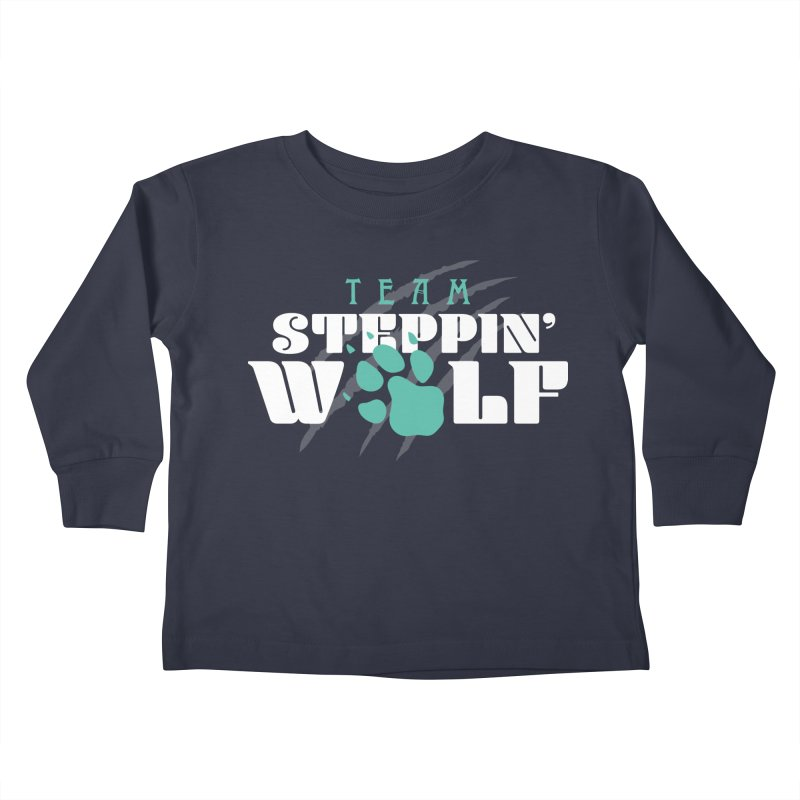 Steppin' Wolf Kids Toddler Longsleeve T-Shirt by Turkeylegsray's Artist Shop