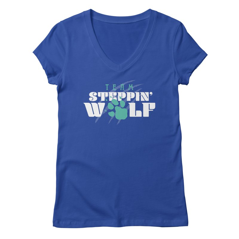 Steppin' Wolf Women's Regular V-Neck by Turkeylegsray's Artist Shop