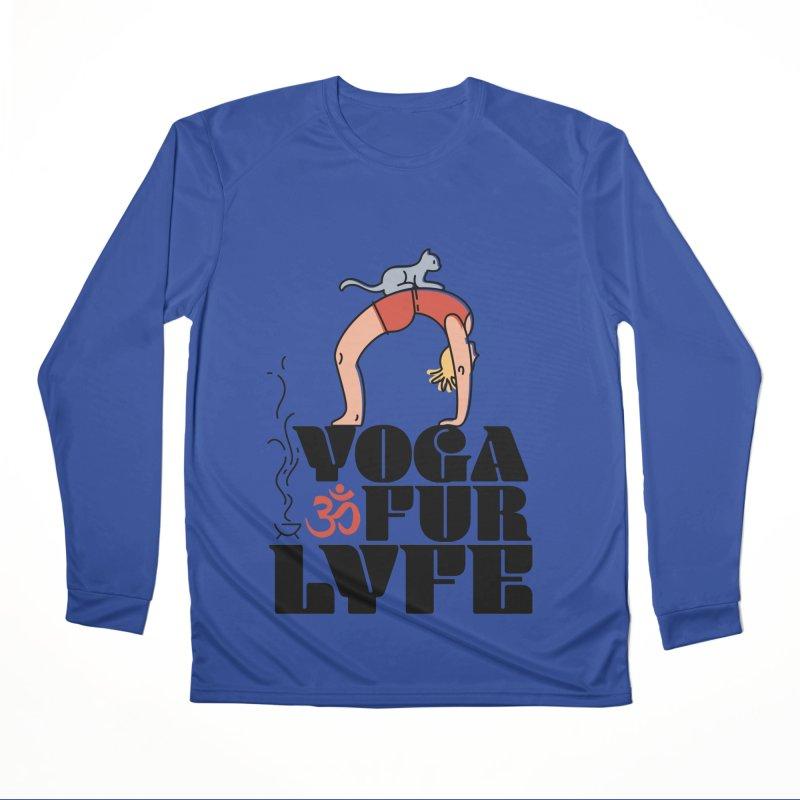 CAT YOGA Men's Performance Longsleeve T-Shirt by Turkeylegsray's Artist Shop