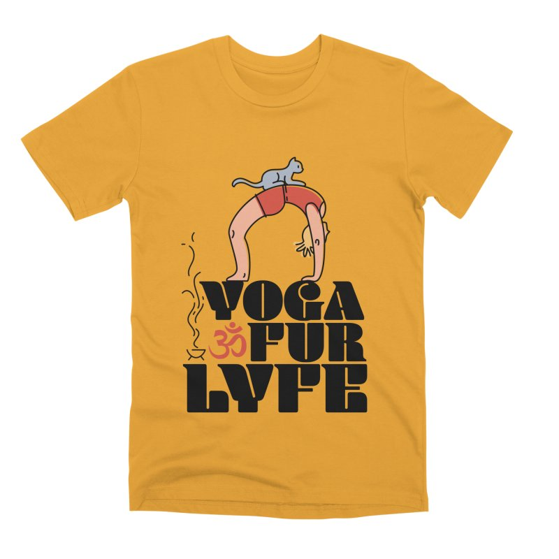 CAT YOGA Men's Premium T-Shirt by Turkeylegsray's Artist Shop