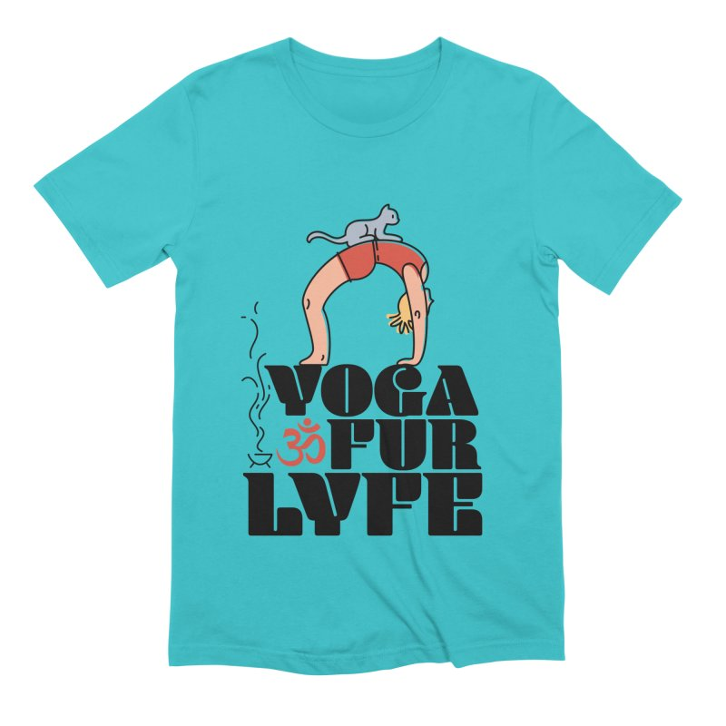 CAT YOGA Men's Extra Soft T-Shirt by Turkeylegsray's Artist Shop