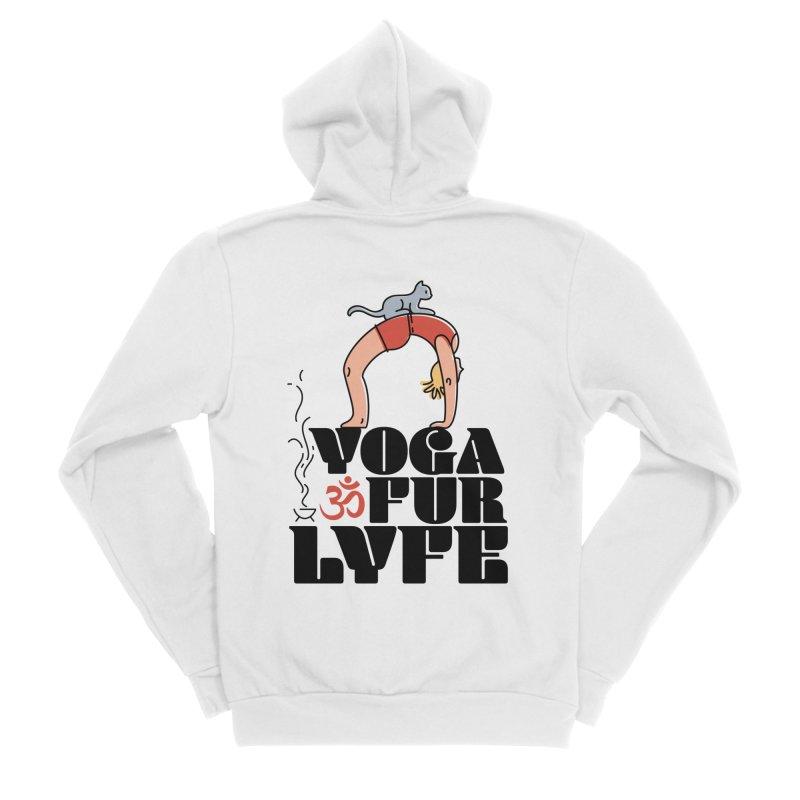 CAT YOGA Women's Sponge Fleece Zip-Up Hoody by Turkeylegsray's Artist Shop