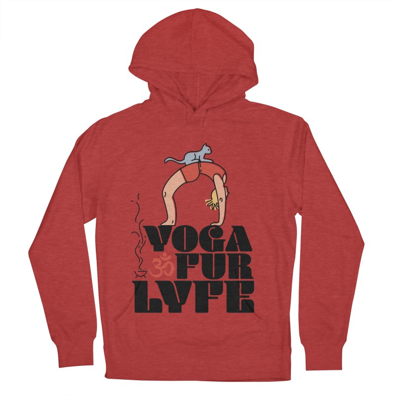 CAT YOGA Women's French Terry Pullover Hoody by Turkeylegsray's Artist Shop