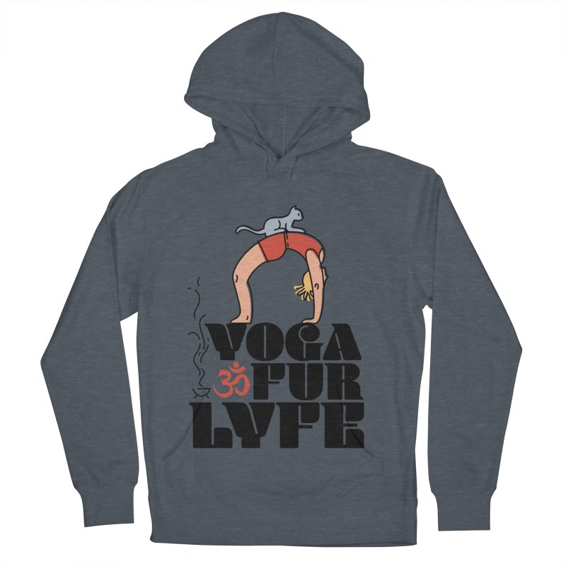 CAT YOGA Men's French Terry Pullover Hoody by Turkeylegsray's Artist Shop