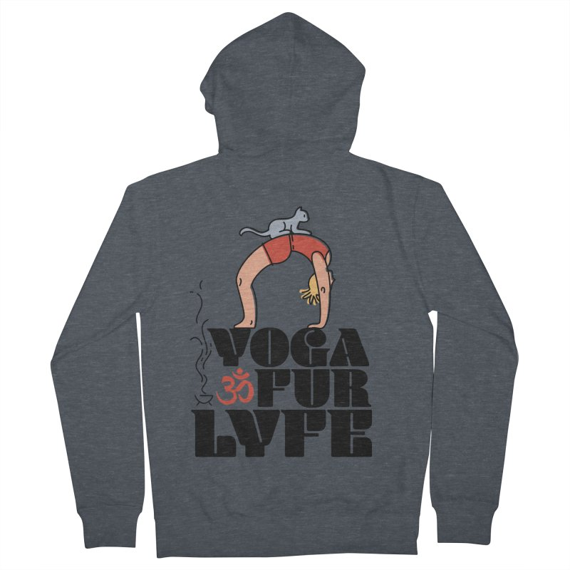 CAT YOGA Women's French Terry Zip-Up Hoody by Turkeylegsray's Artist Shop