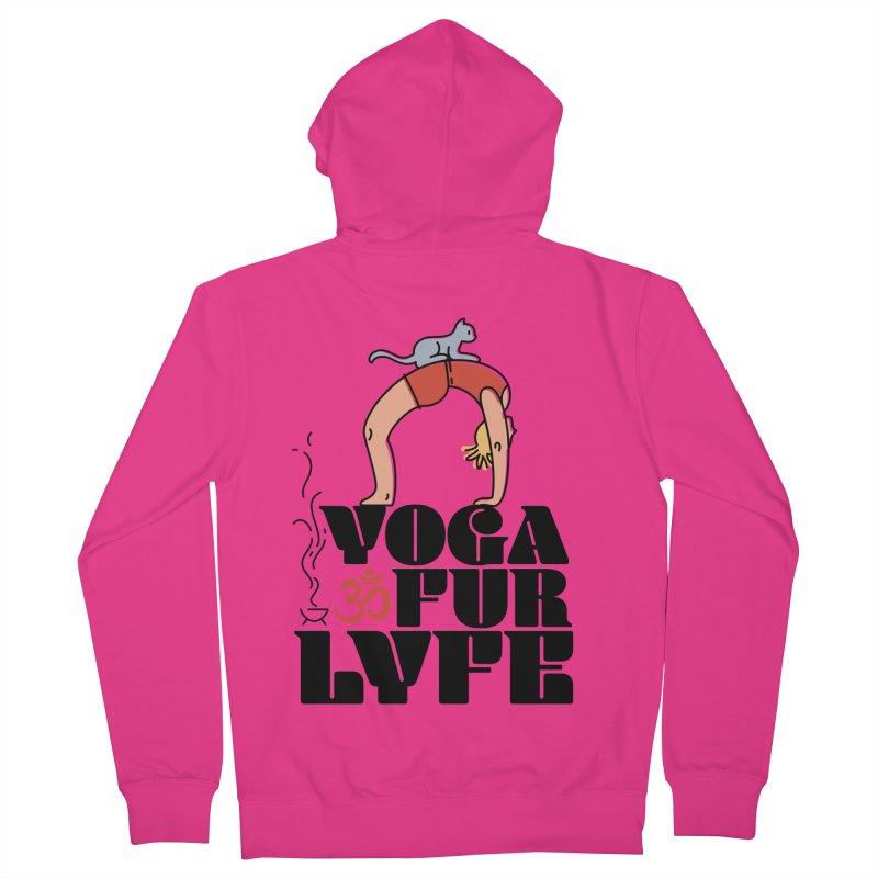 CAT YOGA Men's French Terry Zip-Up Hoody by Turkeylegsray's Artist Shop