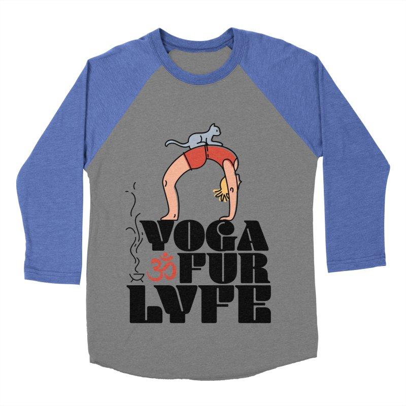 CAT YOGA Men's Baseball Triblend Longsleeve T-Shirt by Turkeylegsray's Artist Shop