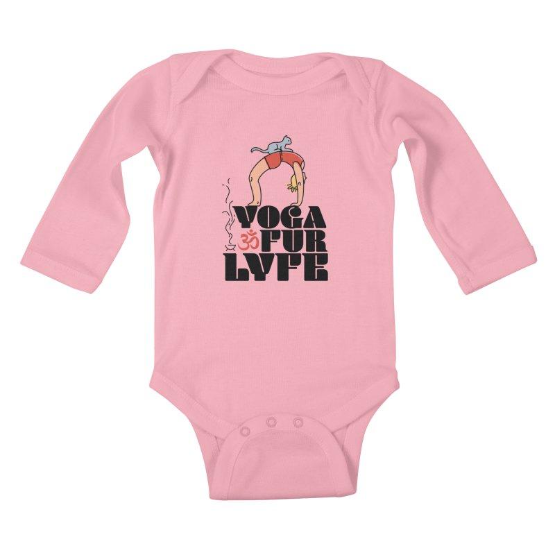 CAT YOGA Kids Baby Longsleeve Bodysuit by Turkeylegsray's Artist Shop