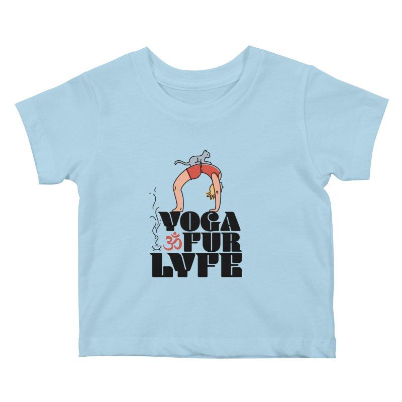 CAT YOGA Kids Baby T-Shirt by Turkeylegsray's Artist Shop