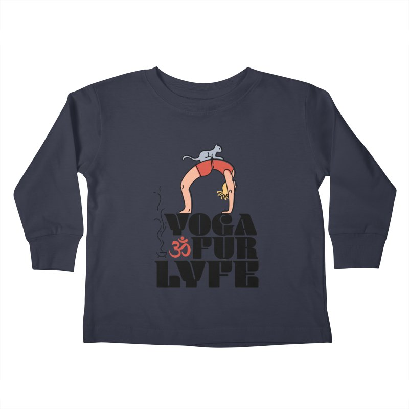 CAT YOGA Kids Toddler Longsleeve T-Shirt by Turkeylegsray's Artist Shop