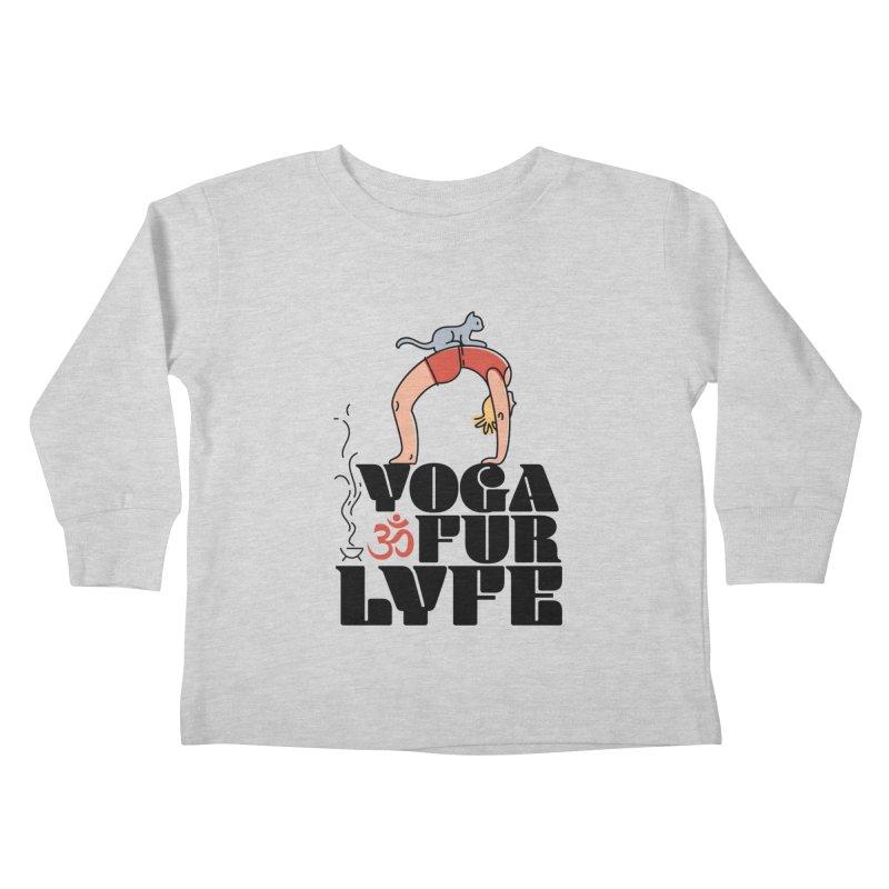 CAT YOGA Kids Toddler Longsleeve T-Shirt by Turkeylegsray's Artist Shop