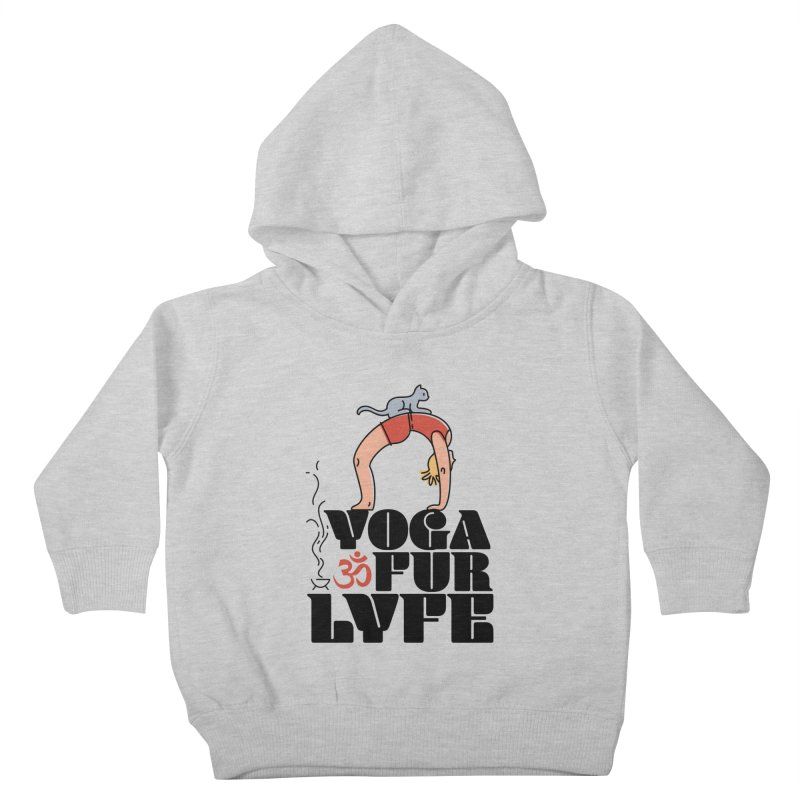 CAT YOGA Kids Toddler Pullover Hoody by Turkeylegsray's Artist Shop
