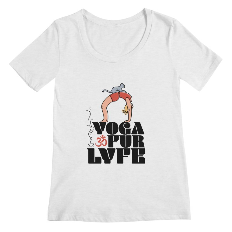 CAT YOGA Women's Regular Scoop Neck by Turkeylegsray's Artist Shop