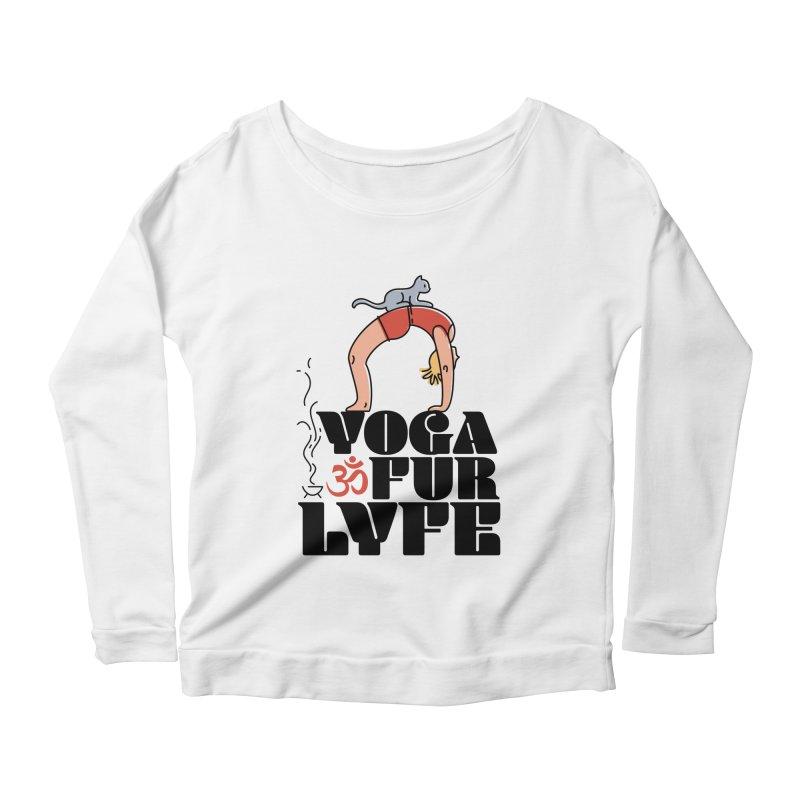 CAT YOGA Women's Scoop Neck Longsleeve T-Shirt by Turkeylegsray's Artist Shop