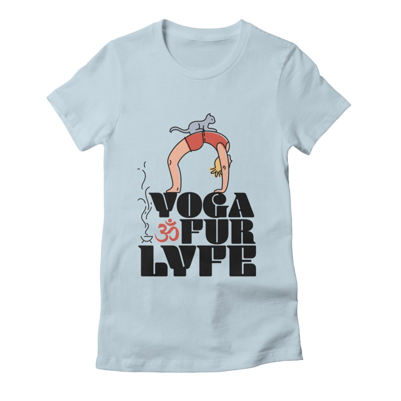CAT YOGA Women's Fitted T-Shirt by Turkeylegsray's Artist Shop