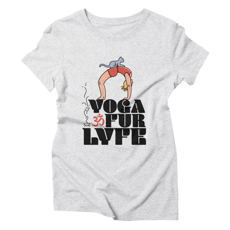 CAT YOGA Women's Triblend T-Shirt by Turkeylegsray's Artist Shop