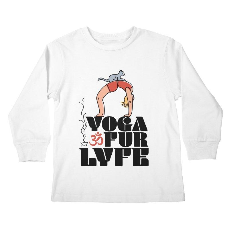 CAT YOGA Kids Longsleeve T-Shirt by Turkeylegsray's Artist Shop