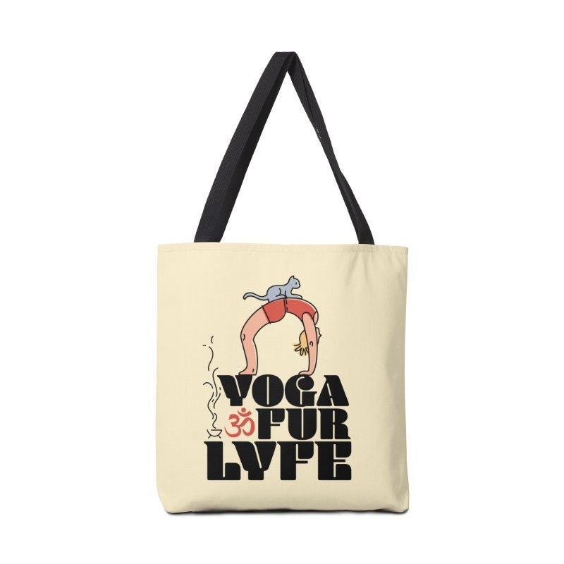 CAT YOGA Accessories Tote Bag Bag by Turkeylegsray's Artist Shop