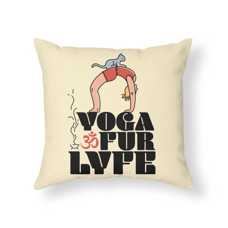 CAT YOGA Home Throw Pillow by Turkeylegsray's Artist Shop