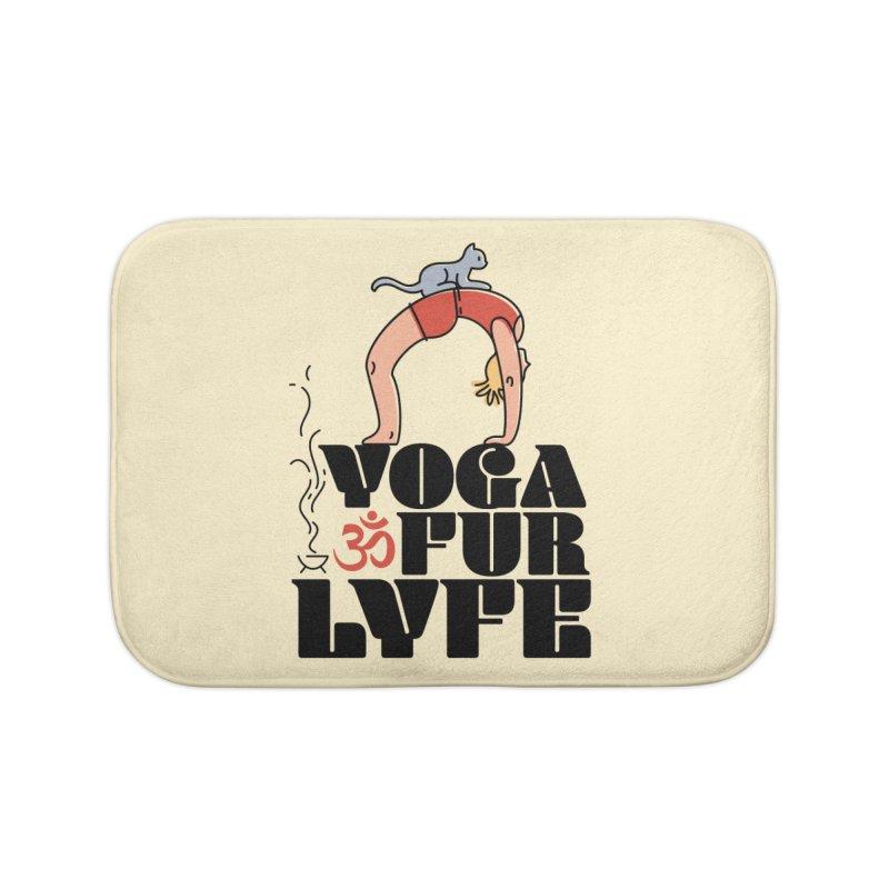 CAT YOGA Home Bath Mat by Turkeylegsray's Artist Shop
