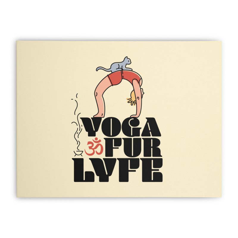 CAT YOGA Home Stretched Canvas by Turkeylegsray's Artist Shop
