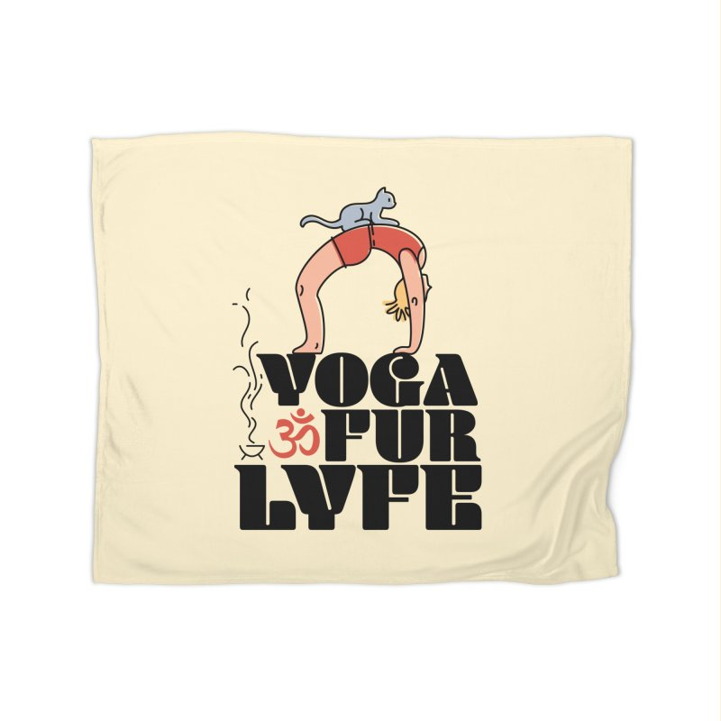 CAT YOGA Home Fleece Blanket Blanket by Turkeylegsray's Artist Shop