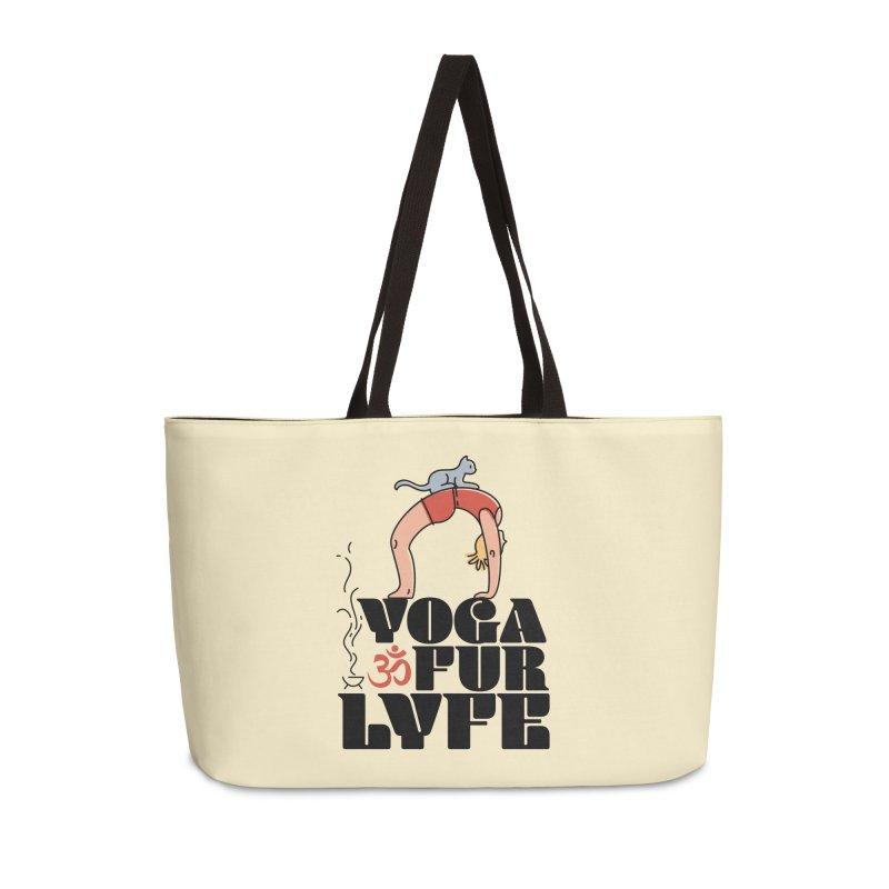 CAT YOGA Accessories Weekender Bag Bag by Turkeylegsray's Artist Shop