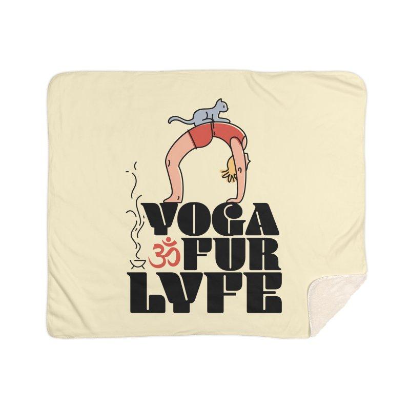 CAT YOGA Home Sherpa Blanket Blanket by Turkeylegsray's Artist Shop