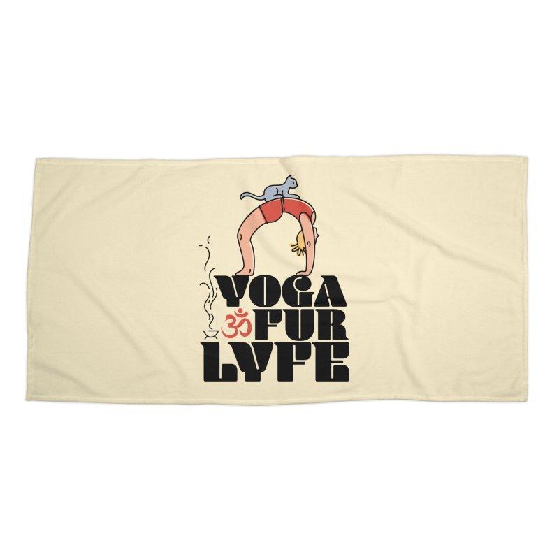 CAT YOGA Accessories Beach Towel by Turkeylegsray's Artist Shop