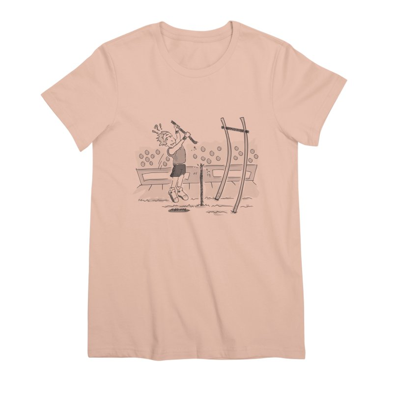 Pole Vaulting Women's Premium T-Shirt by Turkeylegsray's Artist Shop