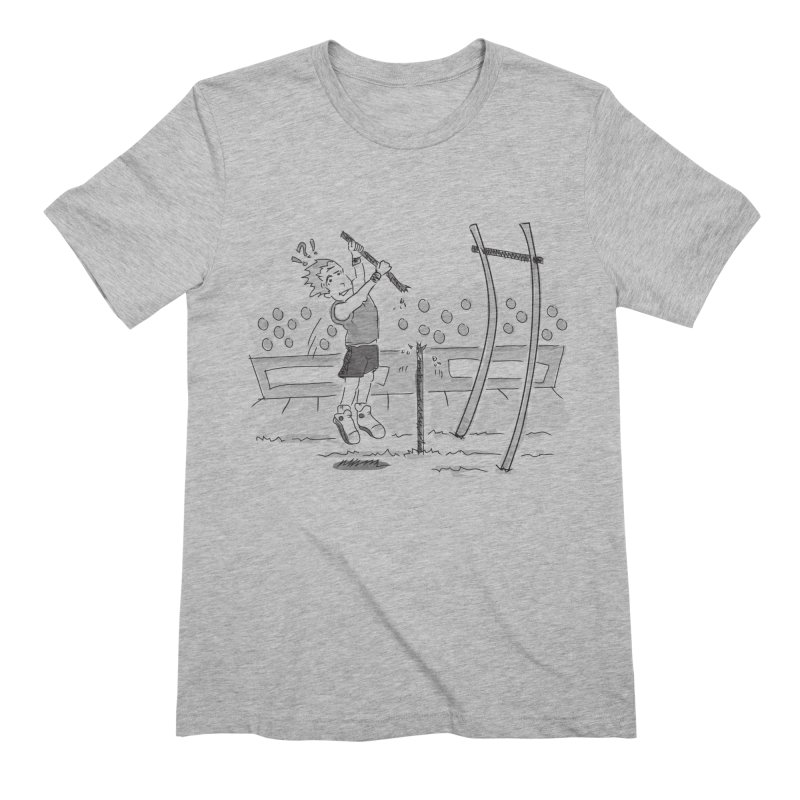 Pole Vaulting Men's Extra Soft T-Shirt by Turkeylegsray's Artist Shop