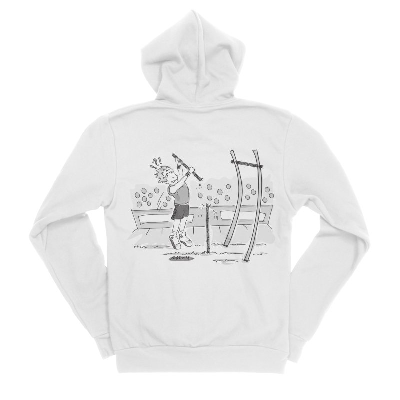 Pole Vaulting Men's Sponge Fleece Zip-Up Hoody by Turkeylegsray's Artist Shop