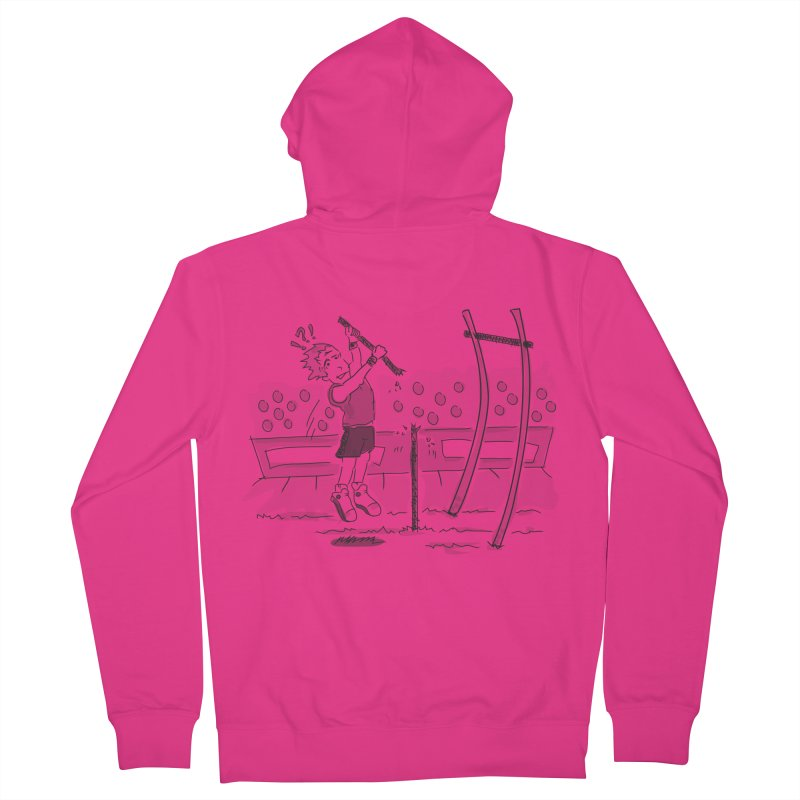 Pole Vaulting Men's French Terry Zip-Up Hoody by Turkeylegsray's Artist Shop