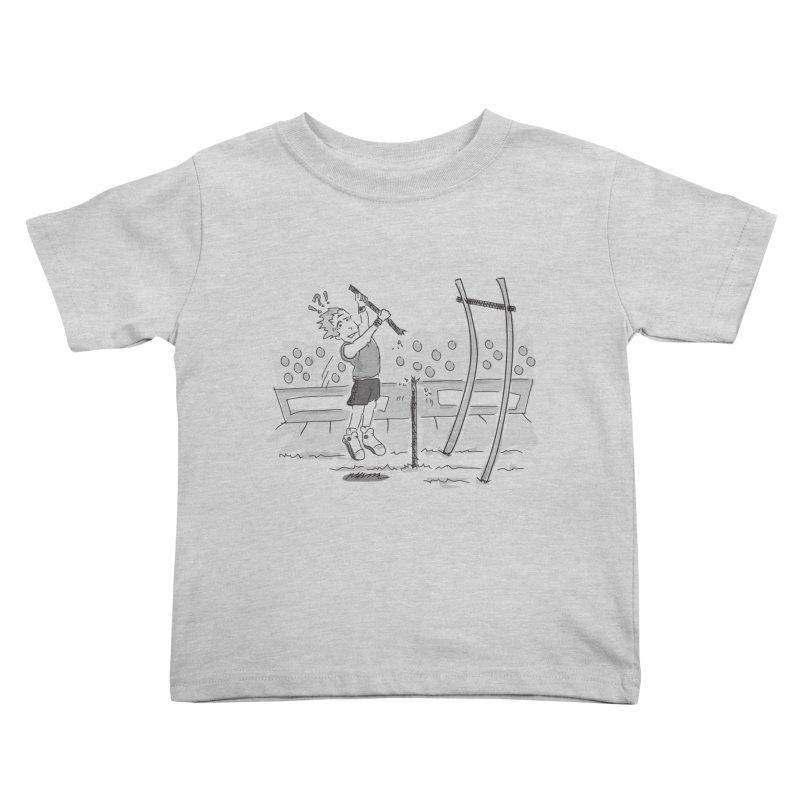 Pole Vaulting Kids Toddler T-Shirt by Turkeylegsray's Artist Shop