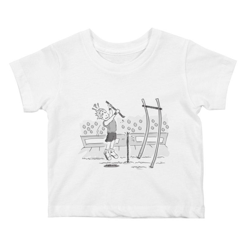 Pole Vaulting Kids Baby T-Shirt by Turkeylegsray's Artist Shop