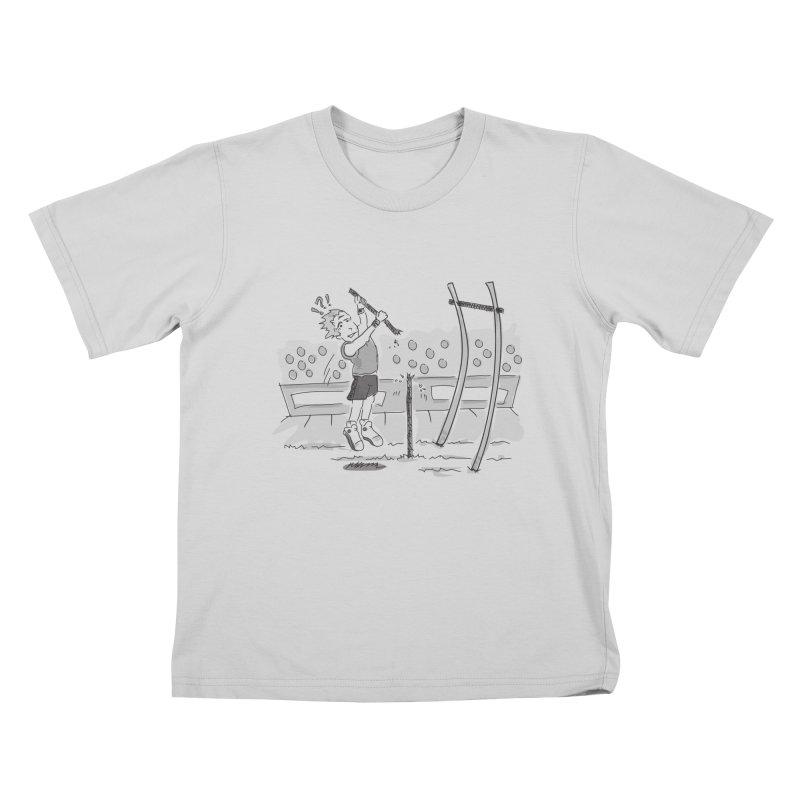 Pole Vaulting Kids T-Shirt by Turkeylegsray's Artist Shop