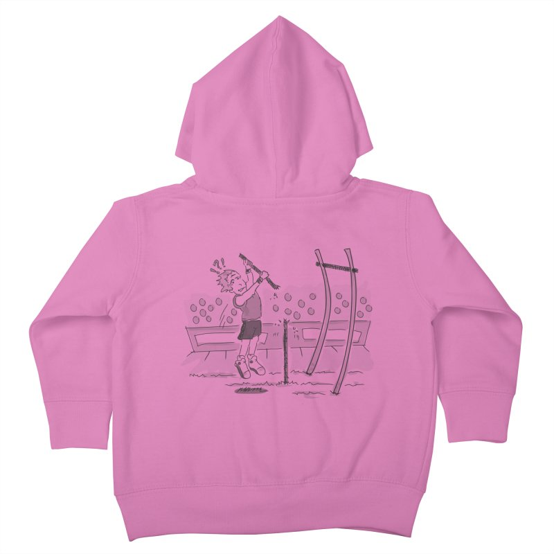 Pole Vaulting Kids Toddler Zip-Up Hoody by Turkeylegsray's Artist Shop