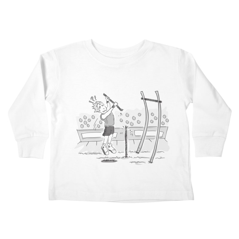 Pole Vaulting Kids Toddler Longsleeve T-Shirt by Turkeylegsray's Artist Shop