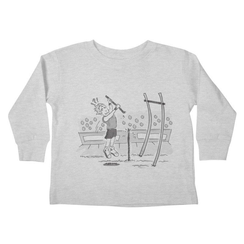 Pole Vaulting Kids Toddler Longsleeve T-Shirt by Turkeylegsray's Artist Shop