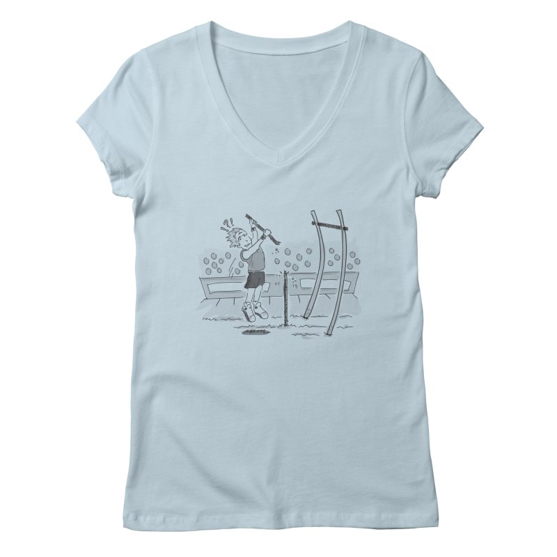 Pole Vaulting Women's Regular V-Neck by Turkeylegsray's Artist Shop