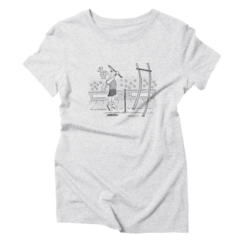 Pole Vaulting Women's Triblend T-Shirt by Turkeylegsray's Artist Shop